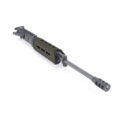 AR15 5.56 NATO 16″ CARBINE LENGTH 1:9 TWIST W/12″ HYBRID KEYMOD HANDGUARD – COMPLETE UPPER