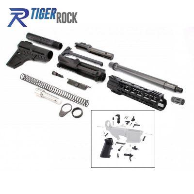 AR 9MM 10.5″ Pistil Kit with Shavewave Stock Kit, 10.5″ Barrel, 10″ Super Slim Handguard and Lower Parts Kit
