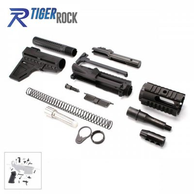 AR 9MM Pistol Kit with 4″ Barrel and 4″ Quad Rail with LPK