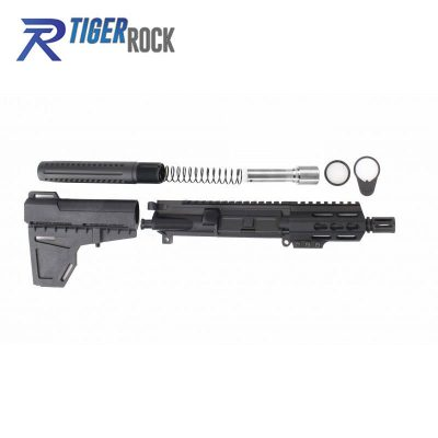 AR 9MM 4.5″ Pistol Build Kit with Shavewave Stock Kit & USA Made 3.75″ Handguard