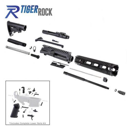 """AR 7.62x39 Rifle Kit with LPK and 12"""" Quad Rail"""