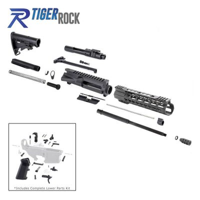 AR 7.62×39 Rifle Kit with LPK and 10″ Keymod Super Slim Handguard