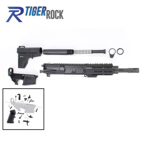 "AR .300 Blackout Pistol Build Kit with 4.5"" M-Lok Custom USA Made Handguard and 7.5"" Pistol Barrel"