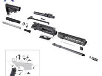 AR .300 Blackout Rifle Kit with 10″ M-Lok Custom USA Made Handguard and 16″ Barrel