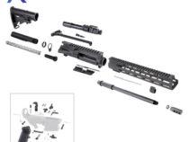 AR .300 Blackout Rifle Kit with 12″ M-Lok Custom USA Made Handguard and 16″ Barrel