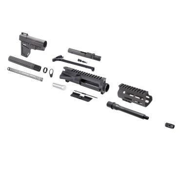 AR 9MM 7.5″ Pistol Kit with Shockwave Stock Kit, BCG & USA Made 4.5″ M-Lok Handguard