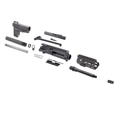 "AR 9MM 7.5"" Pistol Kit with Shockwave Stock Kit"