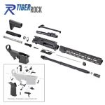 AR-15 Rifle Kit with Complete Upper Build with Magpul Kits, USA Made 15″ M-Lok Handguard, Upper, 80% Lower and Lower Parts Kit