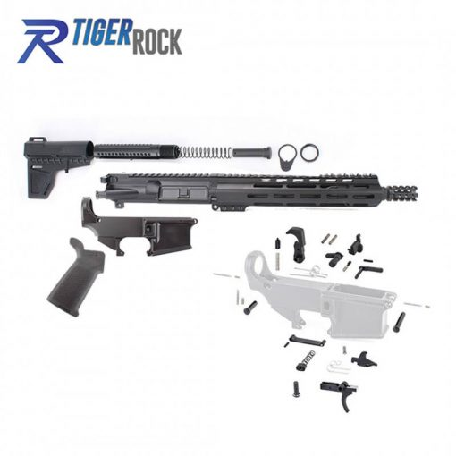"AR-15 10.5"" Pistol Build Kit with Custom USA Made Complete Upper Build with Magpul Grip"