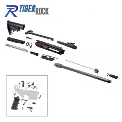 AR10 .308 Rifle Kit with 18″ Parkerized Barrel, BCG, Upper and Lower Part Kit