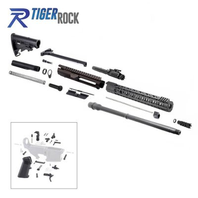 AR10 .308 Rifle Kit with 18″ Black Nitride Barrel, BCG, Upper, Lower Part Kit and 15″ Handguard