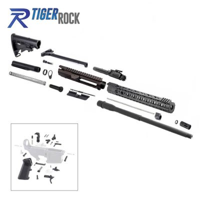 AR10 .308 Rifle Kit with 18″ Parkerized Barrel, BCG, Upper, Lower Part Kit and 15″ Handguard