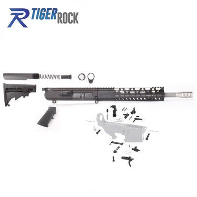 AR10 .308 12.5″ Rifle Build Kit with 10″ Handgurad, Upper and Lower Part Kit