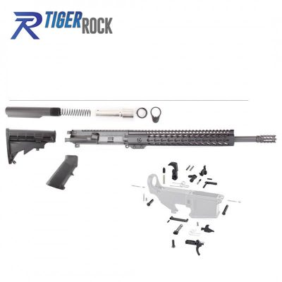 AR 9MM 16″ Rifle Build Kit  with LPK & 12″ Slim Keymod Handguard