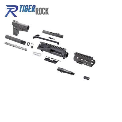 AR 9MM 4.5″ Pistol Kit with Shockwave Stock Kit & USA Made 4.5″ M-Lok Handguard