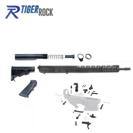 """AR10 .308 Rifle Kit with Complete Upper Build with 18"""" Parkerized Barrel"""