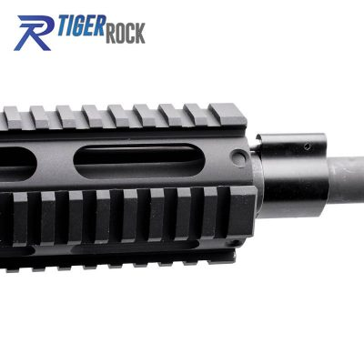 AR15 5.56 NATO 16″ CARBINE LENGTH 1:7 TWIST W/ 16″ QUAD RAIL HANDGUARD – COMPLETE UPPER
