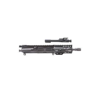 AR-9mm 4.5″ PISTOL LENGTH 1:10 TWIST W/ 4″ SUPER SLIM KEYMOD HANDGUARD – COMPLETE UPPER