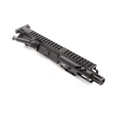 AR-9mm 4.5″ PISTOL LENGTH 1:10 TWIST W/ 4″ SUPER SLIM M-LOK HANDGUARD – UPPER ASSEMBLY