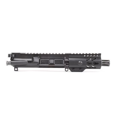 AR-9mm 4.5″ PISTOL LENGTH 1:10 TWIST W/ 4″ SUPER SLIM KEYMOD HANDGUARD – UPPER ASSEMBLY