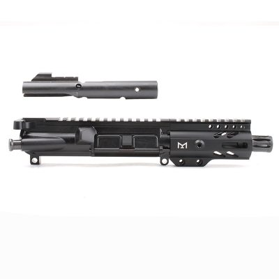 AR-9mm 4.5″ PISTOL LENGTH 1:10 TWIST W/ 4″ SUPER SLIM M-LOK HANDGUARD – COMPLETE UPPER
