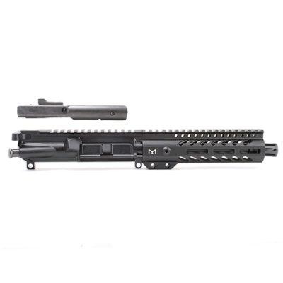 AR-9mm 7.5″ PISTOL LENGTH 1:10 TWIST W/ 7″ SUPER SLIM M-LOK HANDGUARD – COMPLETE UPPER