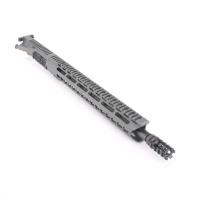 AR15 5.56 NATO 16″ CARBINE LENGTH 1:7 TWIST W/ 15″ KEYMOD (GRAY) HANDGUARD – UPPER ASSEMBLY (NO BCG)