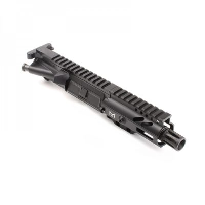 AR-9mm 4.5″ PISTOL LENGTH 1:10 TWIST W/ 4″ SUPER SLIM M-LOK HANDGUARD – UPPER ASSEMBLY