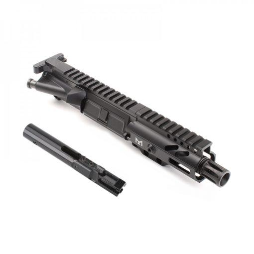 "AR-9mm 4.5"" PISTOL LENGTH 1:10 TWIST W/ 4"" SUPER SLIM M-LOK HANDGUARD - COMPLETE UPPER"
