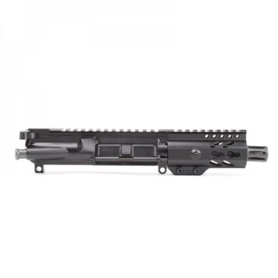 AR-9mm 4.5″ PISTOL LENGTH 1:10 TWIST W/ 4″ SUPER SLIM KEYMOD HANDGUARD – UPPER ASSEMBLY