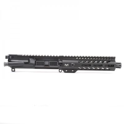 AR-9mm 7.5″ PISTOL LENGTH 1:10 TWIST W/ 7″ SUPER SLIM M-LOK HANDGUARD – UPPER ASSEMBLY