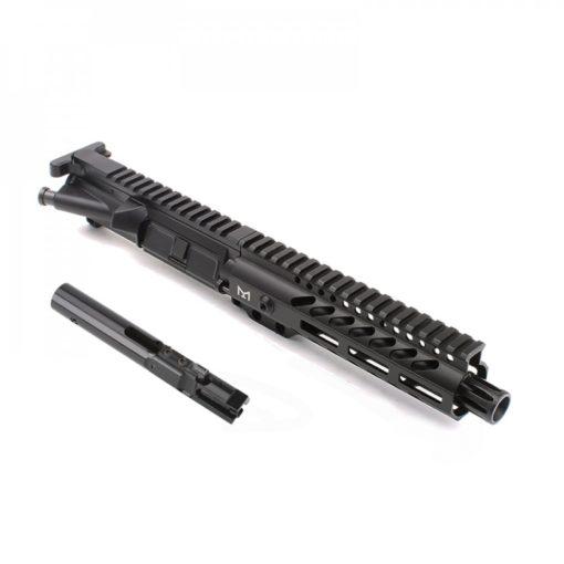 "AR-9mm 7.5"" PISTOL LENGTH 1:10 TWIST W/ 7"" SUPER SLIM M-LOK HANDGUARD - COMPLETE UPPER"