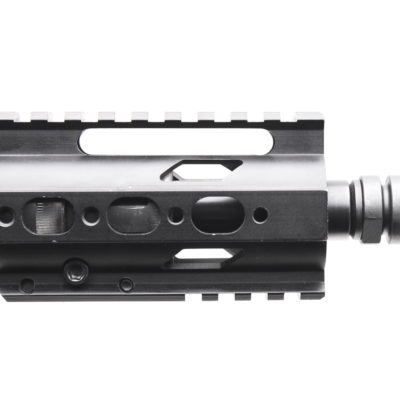 AR-9mm 4.5″ PISTOL LENGTH 1:10 TWIST W/ 4″ SUPER SLIM QUAD RAIL HANDGUARD – UPPER ASSEMBLY