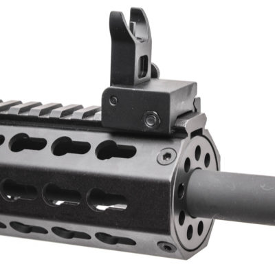 AR15 5.56 NATO 16″ CARBINE LENGTH 1:7 TWIST W/10″ KEYMOD HANDGUARD & FLIP UP SIGHTS – UPPER ASSEMBLY
