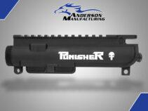 AM-15 Assembled Upper Receiver – Punisher Engraved