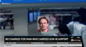 No charges will be filed against a man who carried an AR-15 into a Phoenix airport