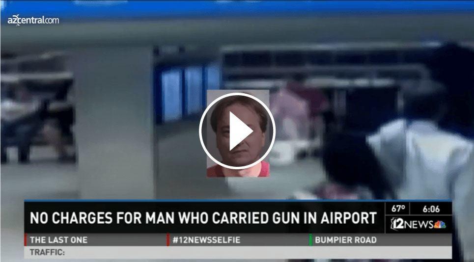 No Charges Filed againt Man who carried AR-15 Rifle into Sky Harbor Airport